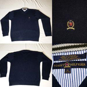 Vintage Tommy Hilfiger Crewneck Cotton Sweater XL